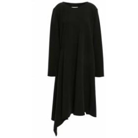 メゾン マルジェラ MM6 MAISON MARGIELA レディース ワンピース ワンピース・ドレス Asymmetric draped stretch-crepe dress Black