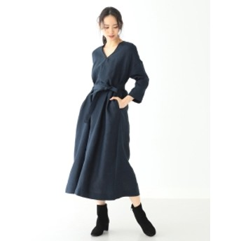 Demi-Luxe BEAMS 31 Chapel Lane / 別注 PHOEBE ベルトワンピース レディース ワンピース NAVY XS
