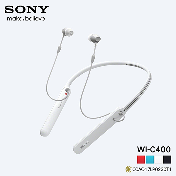 ▼【加贈 16g記憶卡x1】SONY WI-C400 原廠 無線立體聲耳機 藍芽耳機 藍牙 入耳式 NFC 頸掛式 神腦貨