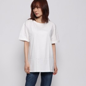 イーハイフンワールドギャラリー E hyphen world gallery outlet ルミネ◇バックローズ刺繍Tシャツ (オフホワイト)