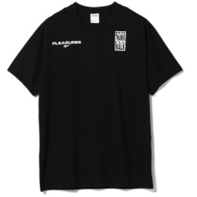 BEAMS Reebok CLASSIC × PLEASURES / VECTOR Tシャツ メンズ Tシャツ BLACK O