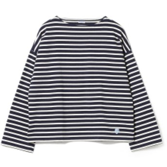 B:MING by BEAMS ORCIVAL / ドロップショルダー ボーダーカットソー レディース カットソー NAVY ONE SIZE