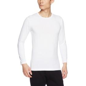 [ビー・ブイ・ディ] クルーネック長袖Tシャツ 瞬暖 裏起毛ストレッチ メンズ オフホワイト 日本 LL (日本サイズ2L相当)