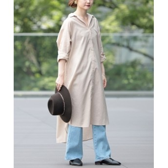 B:MING by BEAMS B:MING by BEAMS / 綿麻 シャツワンピース レディース ワンピース BEIGE S