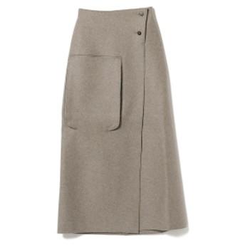 Demi-Luxe BEAMS STUDIO NICHOLSON / 3Dポケット ラップスカート レディース マキシ・ロング丈スカート LT. BROWN 00