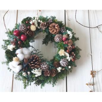 木の実たっぷりクリスマスリース☆25センチ