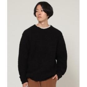 BEAMS BEAMS / ブークレ クルーネック ニット メンズ ニット・セーター BLACK L
