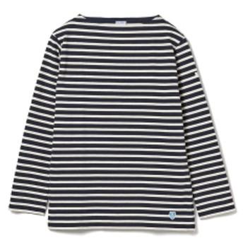 fennica <MEN・UNISEX>ORCIVAL / ボーダー バスクシャツ ロングスリーブ メンズ Tシャツ MARINE/ECRU (ダークネイビー/エクリュ) 5