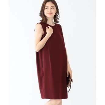 Demi-Luxe BEAMS Demi-Luxe BEAMS / とろみドレープワンピース レディース ワンピース WINE 38