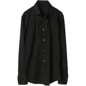 kiryuyrik kiryuyrik キリュウキリュウ サイドジャージスタンドカラーシャツ シャツ・ブラウス,Black