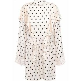 マザー オブ パール MOTHER OF PEARL レディース ワンピース ミニ丈 ワンピース・ドレス Ruffled polka-dot satin mini dress Ivory