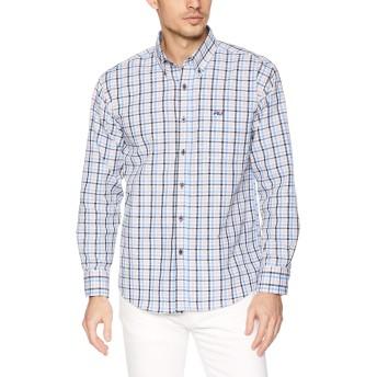 [フィラ] FILA フィラ Men's リップル チェックBDシャツ FH7483 シャツ メンズ サックス 日本 LL (日本サイズXL相当)