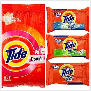 Tide 洗衣粉-含Downy添加柔軟精(650g)*8+洗衣皂*12