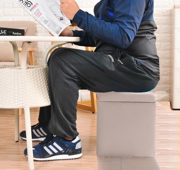 收納椅收納凳子儲物凳可坐成人門口穿鞋凳換鞋凳式多功能簡約現代小椅子
