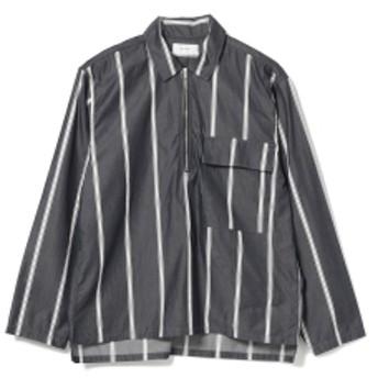 BEAMS WELLDER / ハーフジップ プルーオーバー シャツ メンズ カジュアルシャツ Navy×Red 5