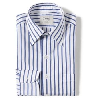 BEAMS F Drake's / 別注 ワイドストライプ レギュラーカラー シャツ メンズ ドレスシャツ BLUE/1982-002 37