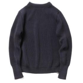 BEAMS PLUS ANDERSEN-ANDERSEN / 5ゲージ クルーネック ニット メンズ ニット・セーター NAVY BLUE S