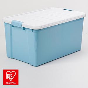日本 IRIS 彩色分類整理箱 天空藍 50L