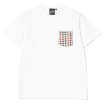 BEAMS T 【SPECIAL PRICE】BEAMS T / Check Pocket Tee メンズ Tシャツ WHITE M