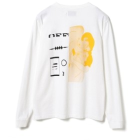 BEAMS T Laugh & be. / REST Long Sleeve Tee メンズ Tシャツ WHITE L