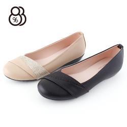 88%MIT台灣製韓版淺口淑女鞋娃娃鞋優雅圓頭楔型小坡跟2.5CM