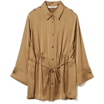 Ray BEAMS Ray BEAMS / サテン ドロスト シャツ レディース カジュアルシャツ BROWN ONE SIZE
