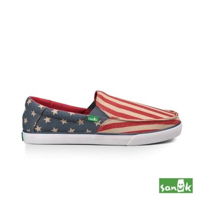 SANUK 美國國旗休閒鞋-男款(紅色)SMF10989 AFLG