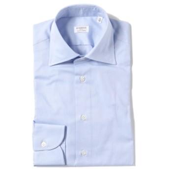 Brilla per il gusto Borriello / 別注 ミニヘリンボーン セミワイドカラーシャツ メンズ ドレスシャツ LT. BLUE/5 39
