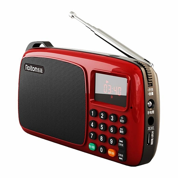 收音機 Rolton/樂廷 T301全波段收音機老人老年充電插卡新款便攜式迷你fm 暖心生活館
