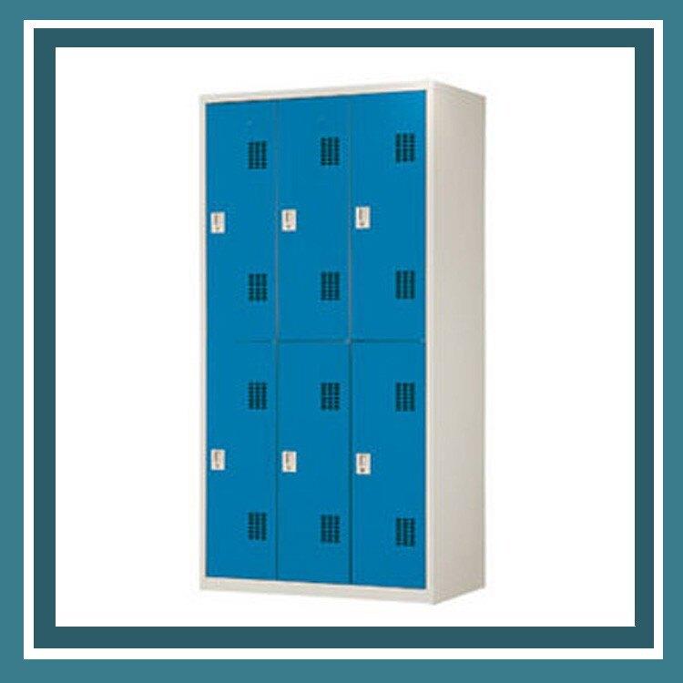 【屬過大商品,運費請先詢問】辦公家具 PS-3606-B 藍色6人用衣櫃 資料文件檔案櫃 櫃子 檔案 收納