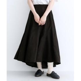 メルロー 切り替えランダムヘムボリュームスカート レディース ブラック FREE 【merlot】