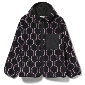 BEAMS T ROTOL / Hexagon Boa Zip Hoodie メンズ ブルゾン NAVY 3(L)