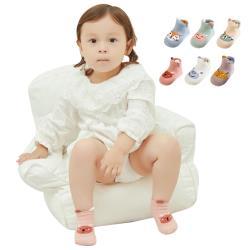 兒童純棉立體淺口小怪獸短襪童襪船襪地板-四雙入