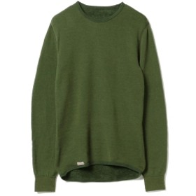 Pilgrim Surf+Supply Woolpower / Crewneck 200 メンズ スウェット GREEN M