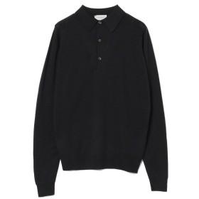 BEAMS F JOHN SMEDLEY / 別注 30ゲージ ロングスリーブ ポロシャツ メンズ ポロシャツ BLACK L