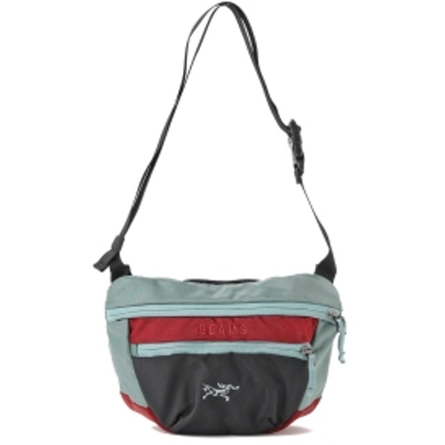 BEAMS ARC'TERYX × BEAMS / 別注 MAKA2 19FW メンズ ショルダーバッグ BLACK/GREY/RED ONE SIZE