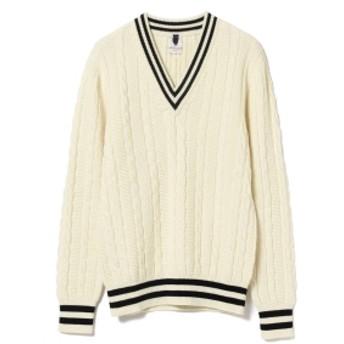 Brilla per il gusto Mc LAUREN / 別注 チルデン Vネックニット メンズ ニット・セーター WHITE/3 48