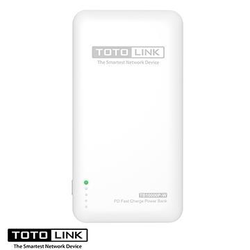 TOTOLINK 10000mAh PD/Type-C 雙向行動電源 白(TB10000P-W)