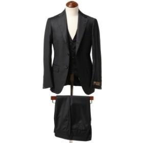 Brilla per il gusto Brilla per il gusto / Loro Piana FOUR SEASONS 3ピース ブラックスーツ メンズ スーツ BLACK 44