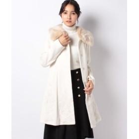 (axes femme/アクシーズファム)裾刺繍2wayコート/レディース 生成り