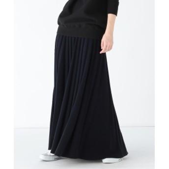 Demi-Luxe BEAMS 【Marisol12月号掲載】ATON / スローウール リブフレアスカート レディース マキシ・ロング丈スカート NAVY 2
