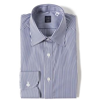 BEAMS F BEAMS F / ロンドンストライプ セミワイドカラー シャツ メンズ ドレスシャツ BLUE/11 42