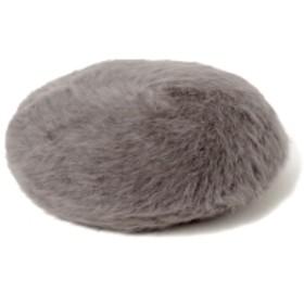 B:MING by BEAMS B:MING by BEAMS / アンゴラ ベレー帽 レディース ハンチング・ベレー帽 GREY ONE SIZE