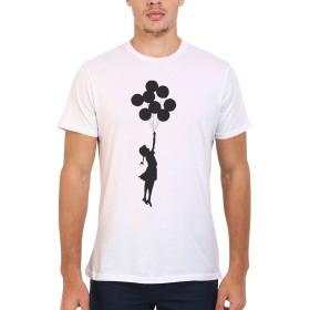 Banksy Balloon Hope Girl Novelty Men Women Unisex Top T Shirt-S
