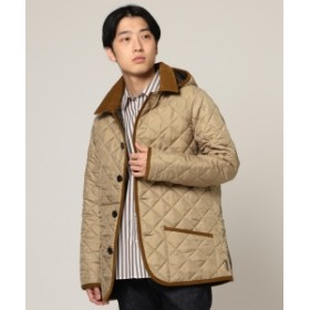 BEAMS Traditional Weatherwear × BEAMS / 別注 WAVERLY フーディー メンズ ダウンジャケット・ベスト PQ4129 BEIGExTERRA 38
