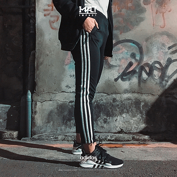 IMPACT Adidas Originals ST Track Pants 黑 三葉草 三線 長褲 拉鍊 CE2400