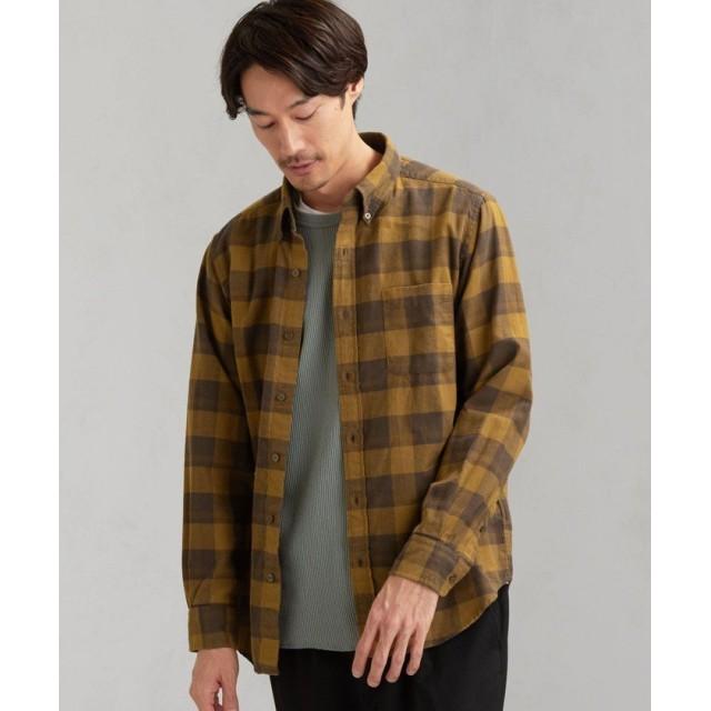 グリーンレーベルリラクシング SC カノコドビー チェック ボタンダウンシャツ LS メンズ DKBROWN S 【green label relaxing】