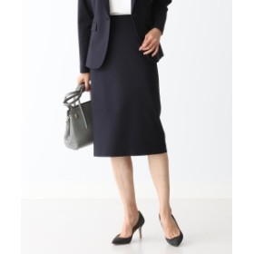 Demi-Luxe BEAMS 【予約】Demi-Luxe BEAMS / シャークスキン タイトスカート 20FO レディース 膝丈スカート NAVY 36