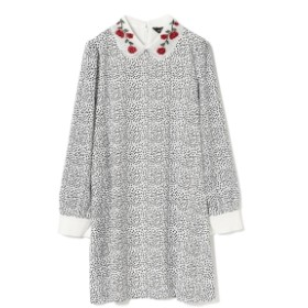 Ray BEAMS sister jane / Dalmatian Dress レディース ワンピース WHITE S