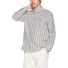 [フィラ] FILA フィラ Men's リップル チェックBDシャツ FH7483 シャツ メンズ ブラック 日本 L (日本サイズL相当)